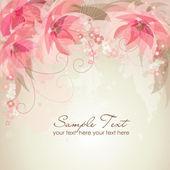 Romantyczny kwiat tło — Wektor stockowy