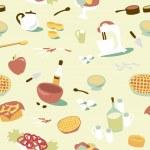 Kitchen pattern. — Stock Vector