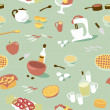 Kitchen pattern. — Image vectorielle