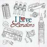 London doodles — Stock Vector #35926643
