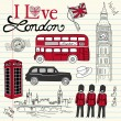 Stock Vector: London doodles