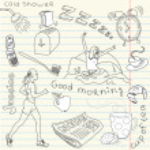 Morning doodles — Stock Vector