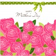 Mother's Day card — Image vectorielle