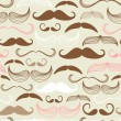 Mustache seamless pattern — Stock Vector #35927169