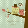 Romantic Wedding Card — Vector de stock  #35927453