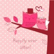 Romantic Valentines Card — Stockvectorbeeld