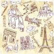 Stock Vector: Paris doodles