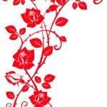 用树叶玫瑰 — 图库矢量图片