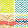 Retro Zig zag patterns — Stock Vector #35927871