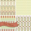 Seamless retro patterns. — Stock Vector