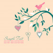 Vector de stock : Romantic background