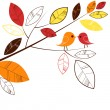 Stock Vector: Autumn leaves