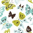 Stock Vector: Butterfly seamless pattern
