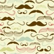 Stock Vector: Mustache seamless pattern