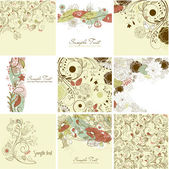 Floral greeting cards — Stock Vector