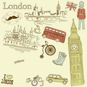 London doodles — Stockvektor
