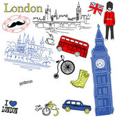London doodles — Stok Vektör