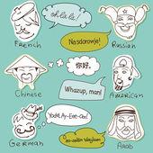 Different nationalities — Stock Vector