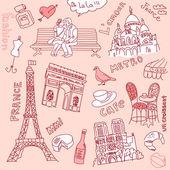 Love in Paris — Stock Vector