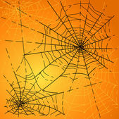 Halloween Spiders web — Stock Vector