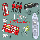 Doodle londyn — Wektor stockowy