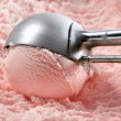 Strawberry ice cream - Stock Photo