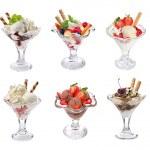 collage di gelato — Foto Stock