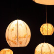 Designed lamps on black background — Stock Photo