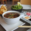 Stock Photo: Sushi lunch with miso soup
