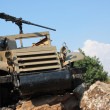 Military equipment on golan heights - Stockfoto