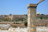 The ancient Jewish cemetery on the Mount of Olives — Stock Photo