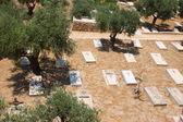 Christian Gravesat old city of Jerusalem — Stock Photo