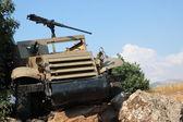 Sprzętu wojskowego na wzgórza golan — Zdjęcie stockowe
