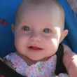 Cute baby portrait with blue eyes — Stok fotoğraf