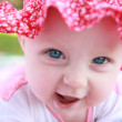 Little baby girl laughing — Stok fotoğraf