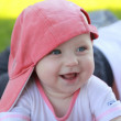 Small baby laughing — Stockfoto #12259788