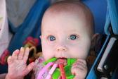 Teething Baby — Stock Photo