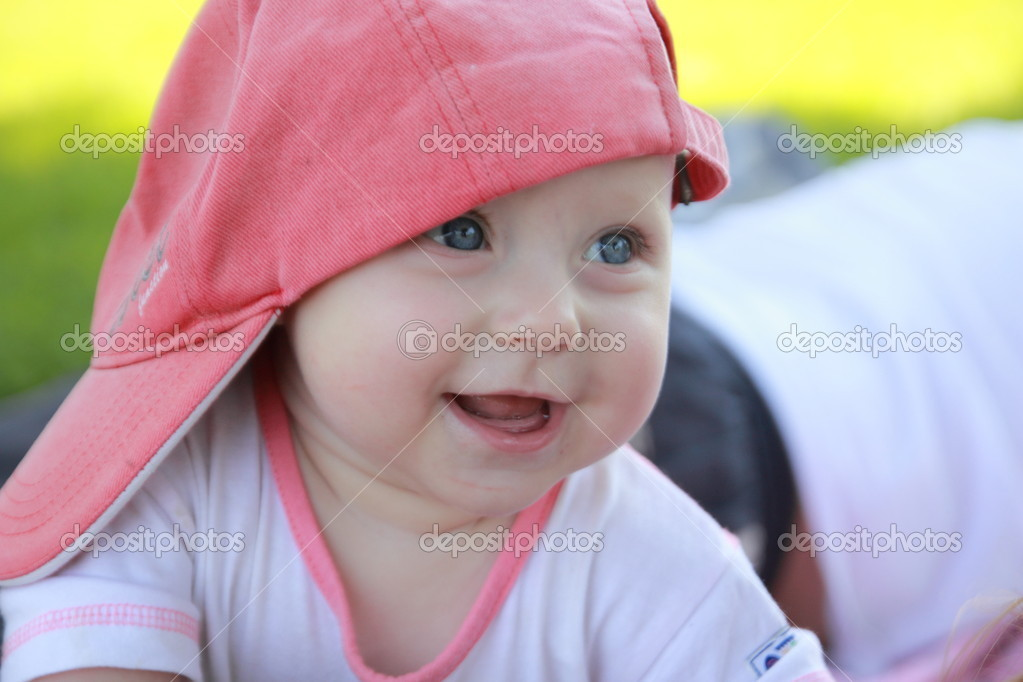 Baby Laughing  Stock Photo #12259826