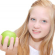Healthy lifestyle - Young blond girl smiling — Stock Photo #13346672