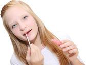 Nastolatek na szminka — Zdjęcie stockowe