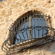 Antique window at the street in Jaffa — Stock Photo