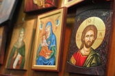 Icons at Jerusalem Church — Stock Photo