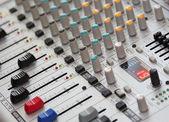 Sound mixer. dj's equipment — Stock Photo
