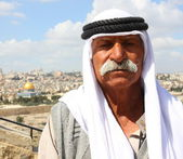 Beduin na górze oliwnej — Zdjęcie stockowe