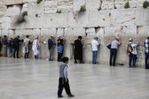The Wailing wall or Western wall is located in the Old City of Jerusalem — Stock Photo