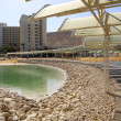 Area of hotels and spa on the Dead Sea, Israel — Stock Photo