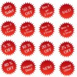 Stock Photo: Set of red sale stamps