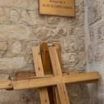 Via Dolorosa. The 9 station stop Jesus Christ. — Stock Photo #40418877