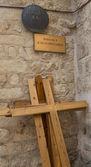 Via Dolorosa. The 9 station stop Jesus Christ. — Stock Photo