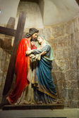 Via Dolorosa. Fourth stop of Jesus - a meeting with Mother — Stock Photo